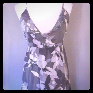 100% Silk Flirty Sundress with Adjustable Straps
